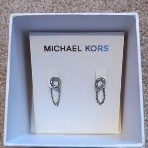 Michael Kors Curb Link Loop Earrings